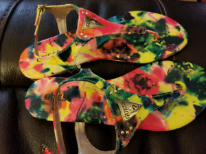 Guess sandals size 8 never worn