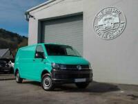 VW T6 LWB 2018 (68) *Air Con & Rear Parking Sensors* in Peppermint Green