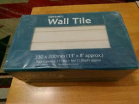 REDUCED **Large Ceramic Wall Tiles 4 boxes 330mm X 200mm**REDUCED