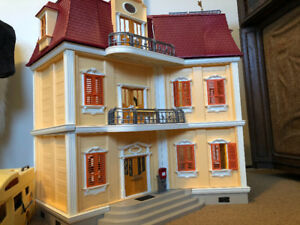 Toys for sale. Play mobile doll house and figures, furnitures.