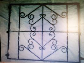 Large wrought iron panel