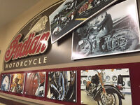 Indian Motorcycle Sign - Man Cave or Garage 4'x8'