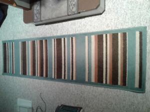 """Blue/beige  88"""" Carpet runner"""