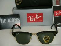 Genuine Ray Ban RB3016 Clubmaster W0365 Black Medium 51mm Paddington, Ealing