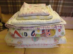 Old Baby Quilts & Dishes