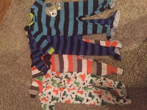 4 pairs of 18 month fleece pjs