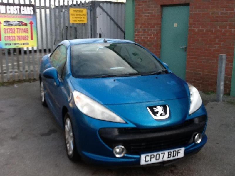 peugeot 207 cc 1 6 16v 120 coupe sport only 54000 miles electric blue in swansea gumtree. Black Bedroom Furniture Sets. Home Design Ideas