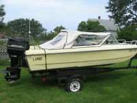 lund tri-haul boat /trailer and motor 80 HP