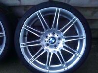 "Bmw Mv4 19"" Original Genuine Alloy wheel RUN FLAT TYRE FRONT CAN POST"