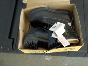 Men's work boots and rubber boots