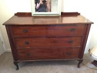 Real wood chest of draws