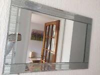 Glitter wall mirror