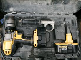 Dewalt 18v drill X 2 , 4 X batteries