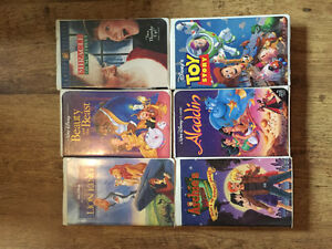 6 Disney Children's VHS