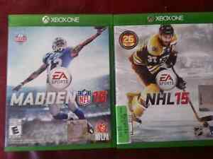 Madden 16 xbox one and nhl 15