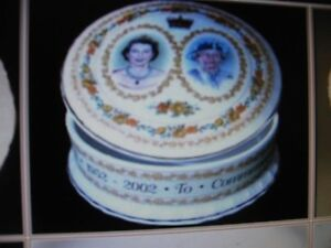 Queen Elizabeth II Golden Jubilee Trinket Box