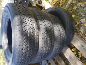 4 tires, General ameritrac, 245/70R17 all season