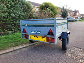Daxara Galvanised Trailer with suspension and tailgate - camping, box