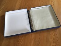 Archival 120 Film Negative Filing Sheets in Cam-shell Storage Box