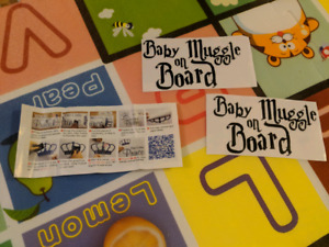 Baby muggle on board / baby on board sign