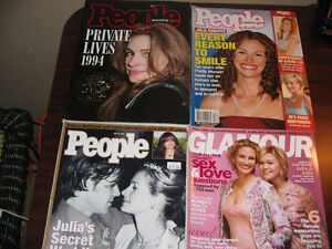 JULIA ROBERTS...9 Magazines...from 1994 to 2004 ..RARE