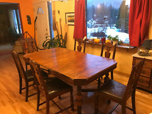 vintage wood dining set