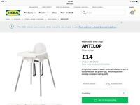Ikea highchair with cushion insert
