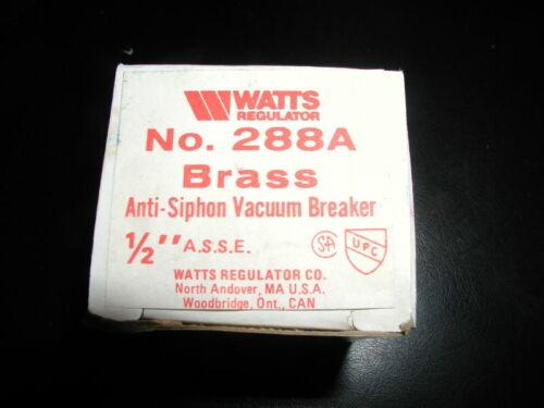 Watts no. 288A Anti Siphon Vacuum Breaker 1/2 inch
