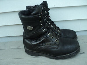 HD mens blk leather INSULATED  GORTEX riding boots