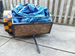 Garden trailer for lawn tractor or atv