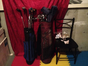 2 sets of mixed golf clubs