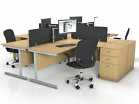 Oak office desks job lot clearance