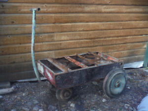 Antique compressor or welding cart Great Decor Upcycle