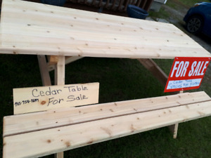 Regular $175.00 Cedar Picnic Tables