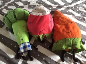 IKEA broccoli stuffy strawberry stuffy and carrot stuffy