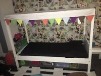 Children's bed with canopy