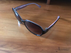 Coach Sunglasses - brown Shade with beautiful pink interior trim