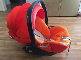 Cybex Cloud Q Plus baby car seat plus isofix Autumn gold burnt red
