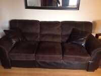 Microfibre and leather couch