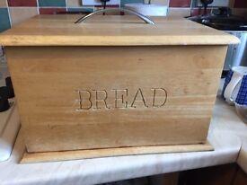 Large wooden bread bin