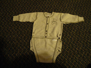 Boys Size 12 Months  Long Sleeved Diaper Style Baby's Own Onesie