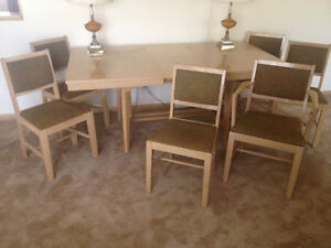Danish Inspired Mid Century Modern Dining Set by Krug Furniture