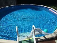 24 feet above ground swimming pool for sale