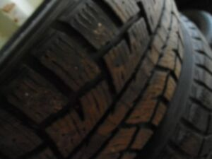 225 60 17 winter studded tires set of four - great shape