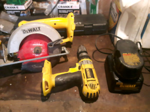 Dewalt 18 volt power tools and chargers xrp