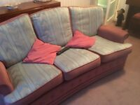 Free 3 seater and chair