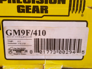 Gm 9.25 ifs front 410 ring and pinion