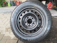 195/60/R15 Snow Tires with Rims