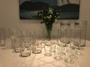 Wedding vases, votives and candles