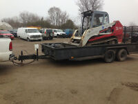 Takeuchi 140 and trailer